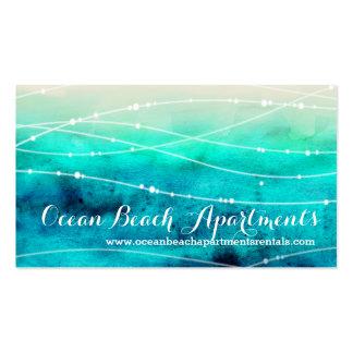 Propiedad costera de la playa que deja tarjetas de tarjetas de visita