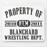 Propiedad de Blanchard que lucha Alfombrilla De Ratón