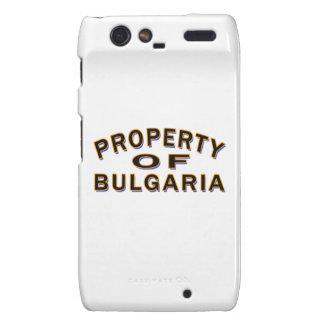Propiedad de Bulgaria Motorola Droid RAZR Funda