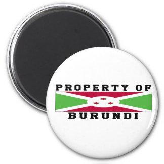 Propiedad de Burundi Imán De Frigorífico