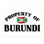 Propiedad de Burundi Postales