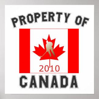 Propiedad de Canadá: Oro 2010 de la bandera del ho Posters