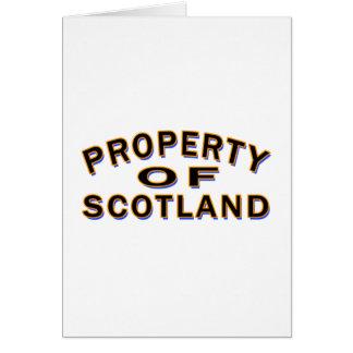 Propiedad de Escocia Felicitaciones