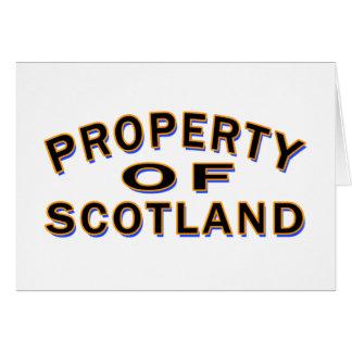 Propiedad de Escocia Felicitacion
