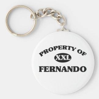 Propiedad de FERNANDO Llavero Personalizado