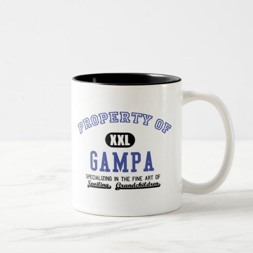 Propiedad de Gampa Taza De Dos Tonos