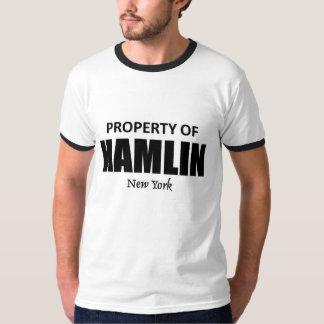 Propiedad de Hamlin Nueva York Remera