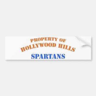 Propiedad de Hollywood Hills Spartans Pegatina Para Auto