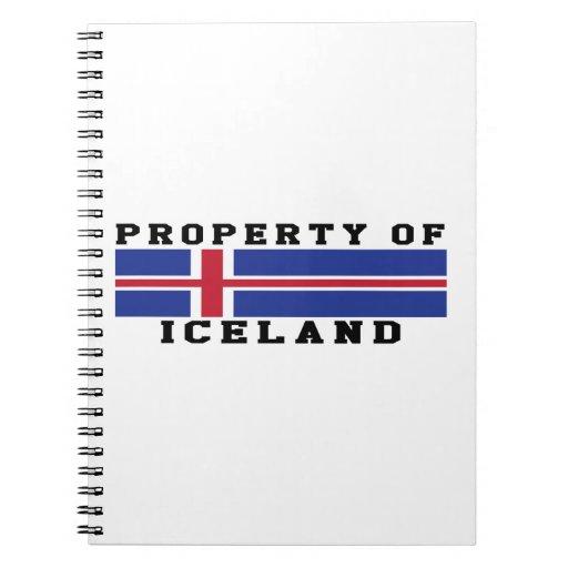 Propiedad de Islandia Libretas Espirales