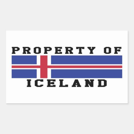 Propiedad de Islandia Pegatina Rectangular