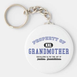 Propiedad de la abuela llavero redondo tipo pin