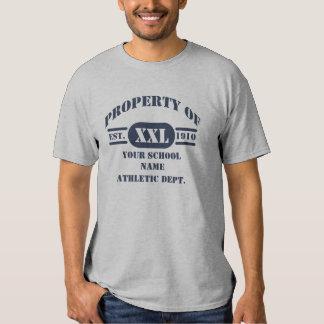 Propiedad de la camiseta atlética del departamento remeras