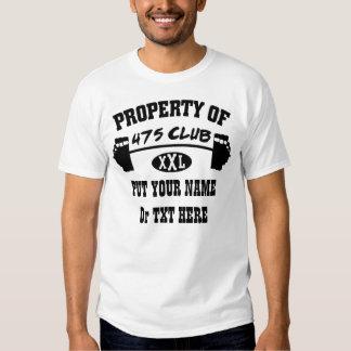 Propiedad de la camiseta básica de 475 hombres del playera