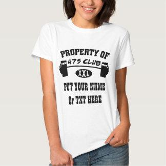 Propiedad de la camiseta de la muñeca de 475 remera