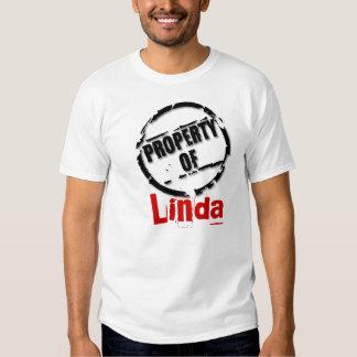 Propiedad de la camiseta de Linda Playera