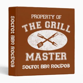 Propiedad de la carpeta de la receta de Grill Mast