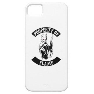 Propiedad de la cubierta del teléfono de la llama iPhone 5 carcasa