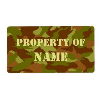 Propiedad de la etiqueta conocida - uniforme etiquetas de envío
