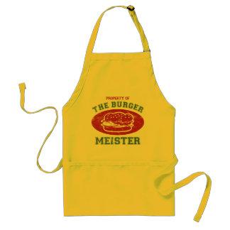 Propiedad de la hamburguesa Meister Delantal