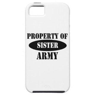 Propiedad de la hermana del ejército funda para iPhone SE/5/5s