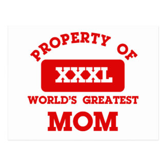 Propiedad de la mamá más grande del mundo postales
