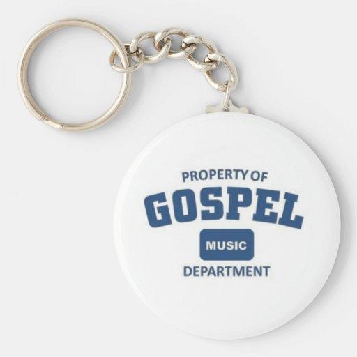 Propiedad de la música gospel llavero personalizado