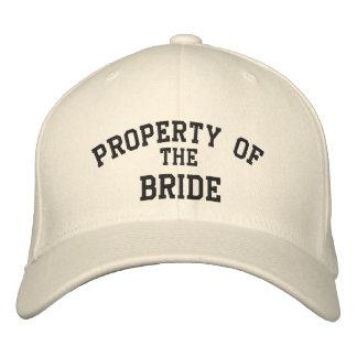 Propiedad de la novia gorra de béisbol bordada