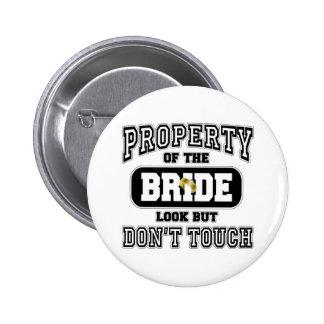Propiedad de la novia pin