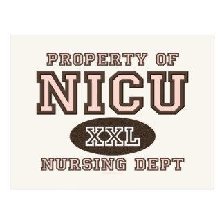 Propiedad de la postal de la enfermera de NICU