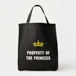Propiedad de la princesa bolsa tela para la compra
