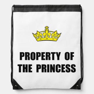 Propiedad de la princesa mochila