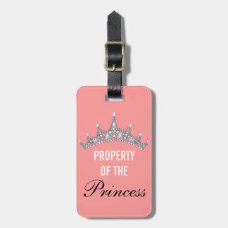 Propiedad de la princesa Tiara Luggage Tag Etiqueta De Equipaje