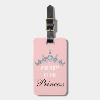 Propiedad de la princesa Tiara Luggage Tag Etiqueta Para Maleta