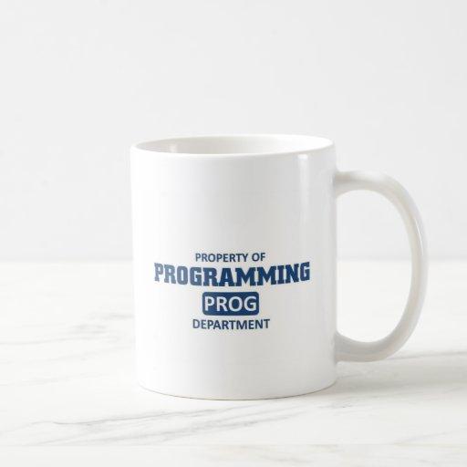 Propiedad de la programación taza básica blanca