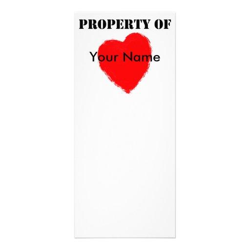 Propiedad de la tarjeta del día de San Valentín de Lona Publicitaria