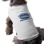 Propiedad de la universidad con cresta china del x prenda mascota