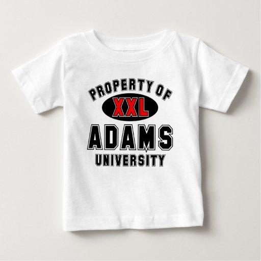 Propiedad de la universidad de Adams Remera