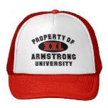 Propiedad de la universidad de Armstrong Gorras