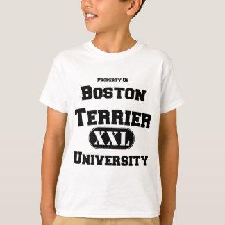 Propiedad de la universidad de Boston Terrier Playera