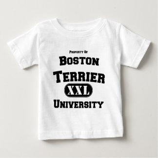 Propiedad de la universidad de Boston Terrier Playera De Bebé