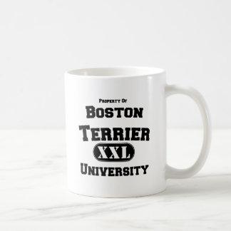 Propiedad de la universidad de Boston Terrier Taza