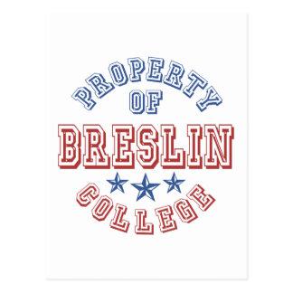Propiedad de la universidad de Breslin Postales