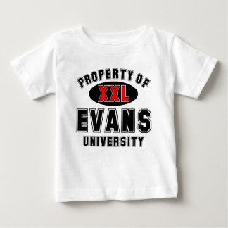 Propiedad de la universidad de Evans Camisetas