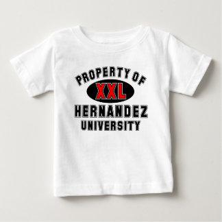 Propiedad de la universidad de Hernández T Shirt