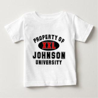 Propiedad de la universidad de Johnson Tee Shirts