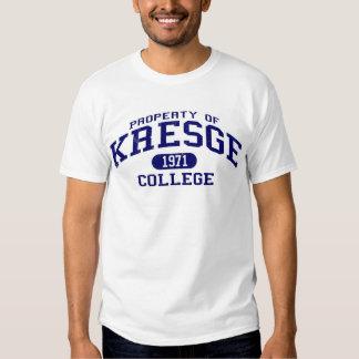 Propiedad de la universidad de Kresge Playera