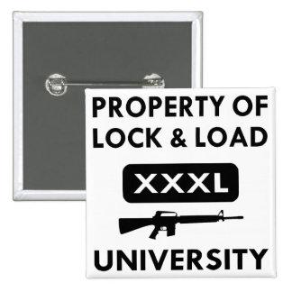 Propiedad de la universidad de la cerradura y de l pin