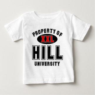 Propiedad de la universidad de la colina tee shirts