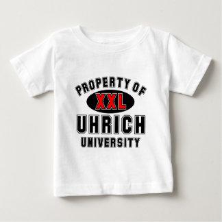 Propiedad de la universidad de Uhrich T-shirts