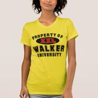 Propiedad de la universidad del caminante tshirts